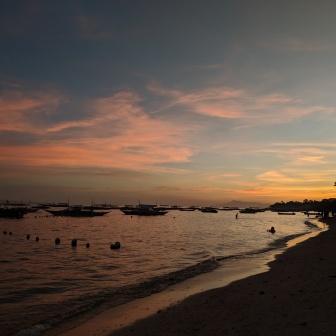 Alona Beach sunset